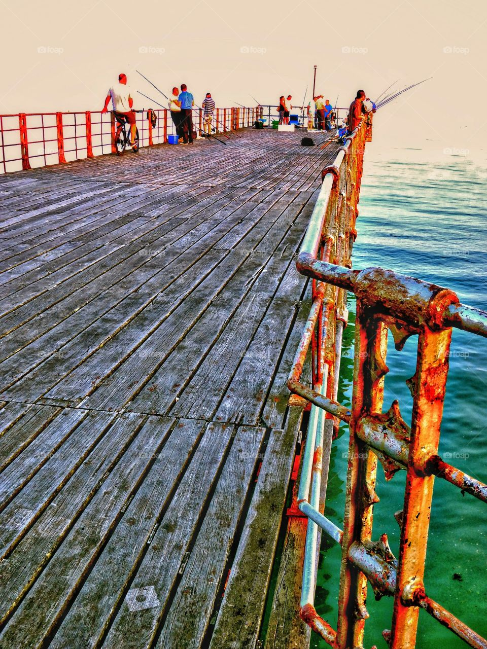 Bognar Regis Pier at Sunset