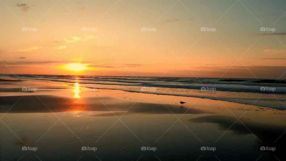 Sunrise at Folly Beach South Carolina