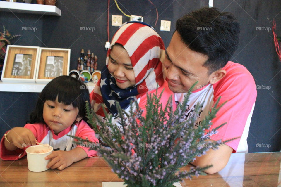 Happy Family, Syiva with Mom and Dad