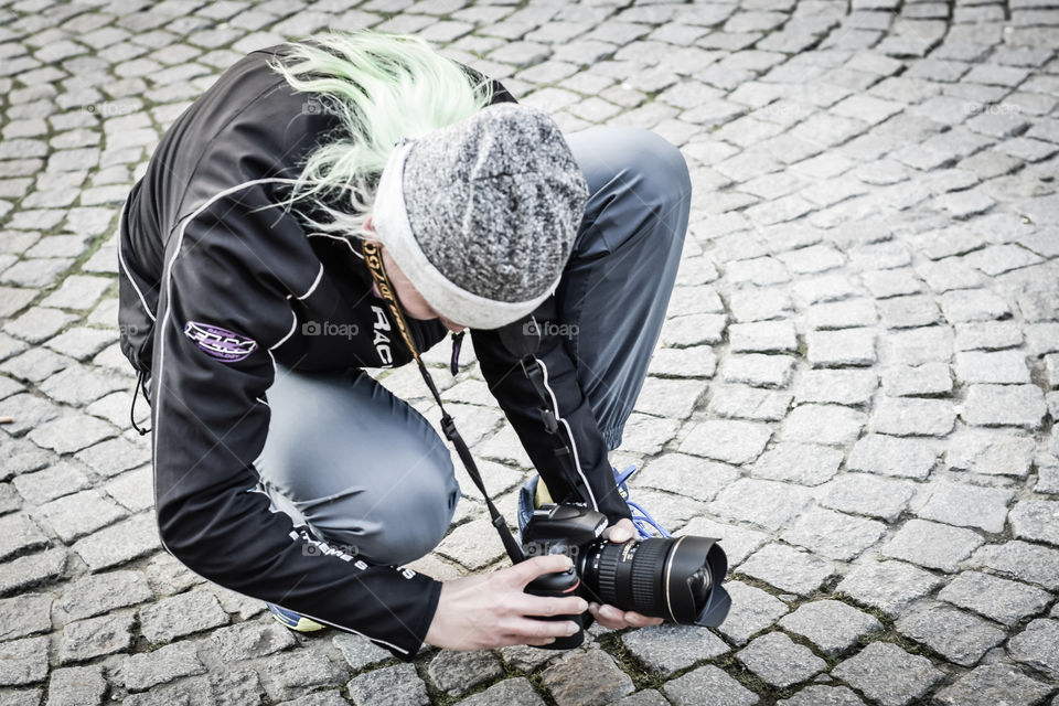 photographer in work