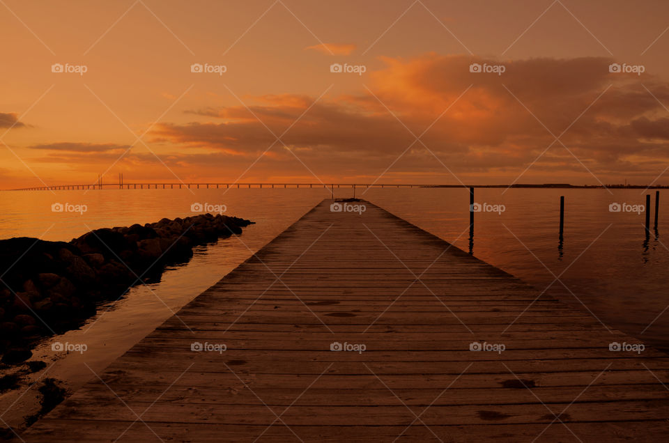 Everything is calm. Sunset in Klagshamn, Sweden