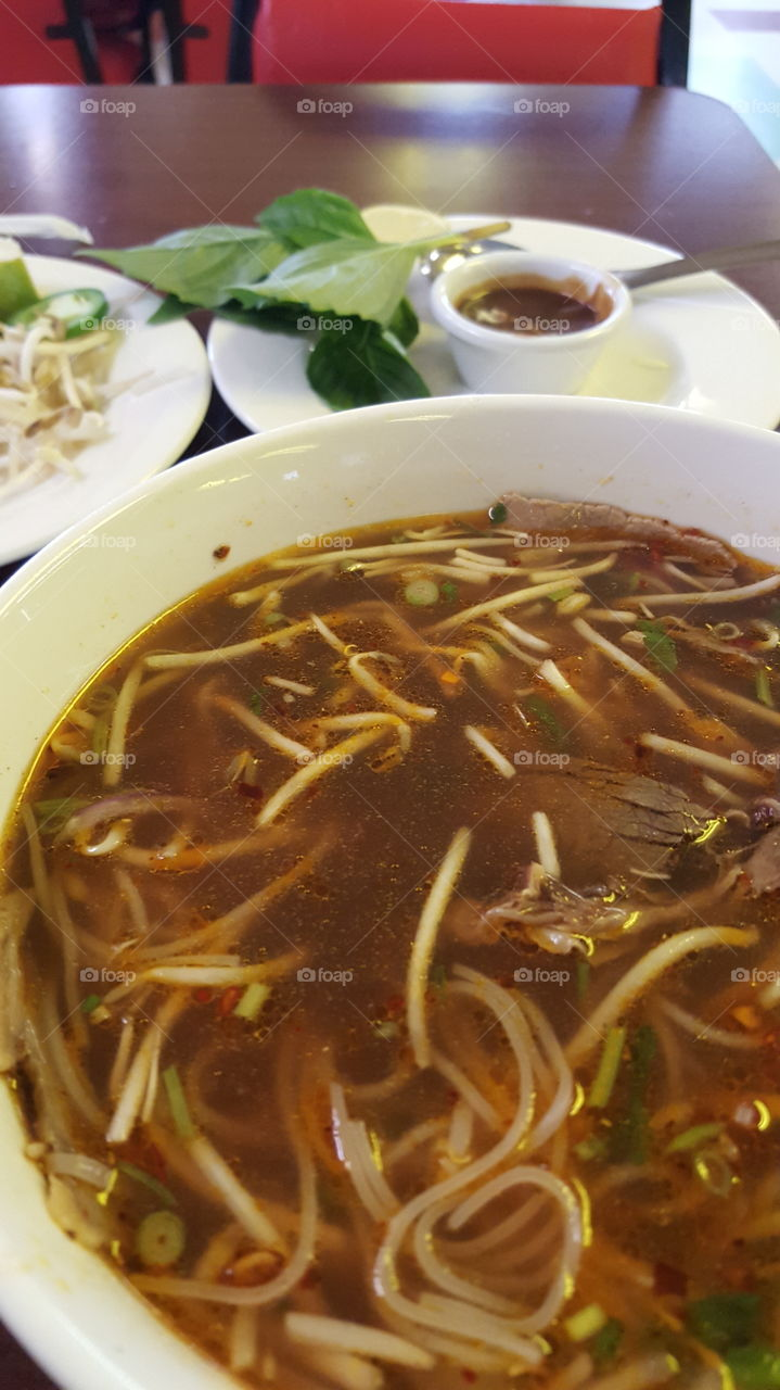 pho. lunch