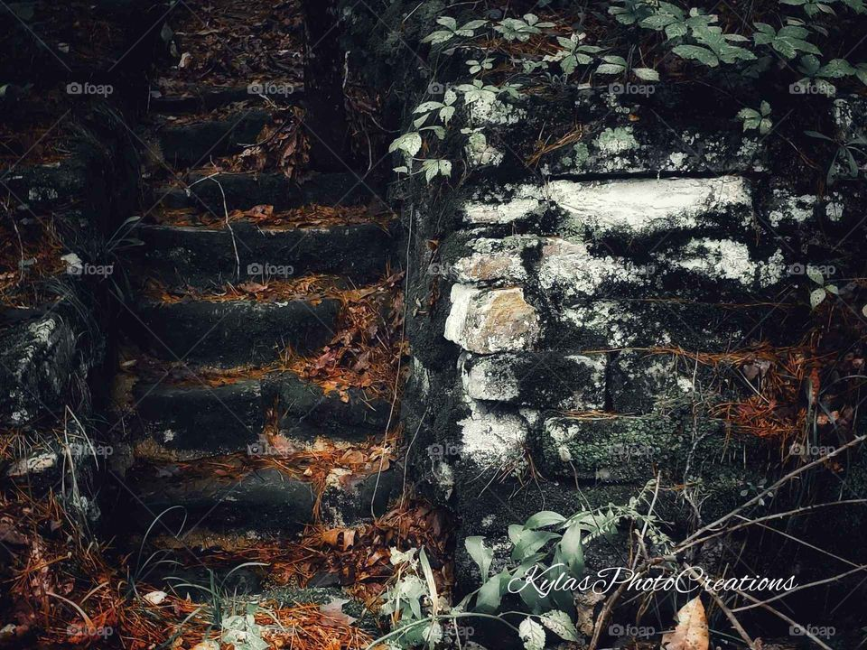 Abandoned steps to nowhere