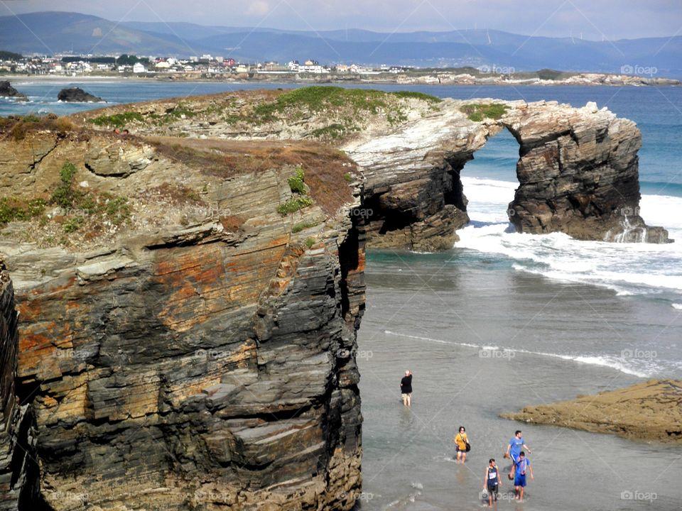 As Catedrais beach, Galicia, Spain.