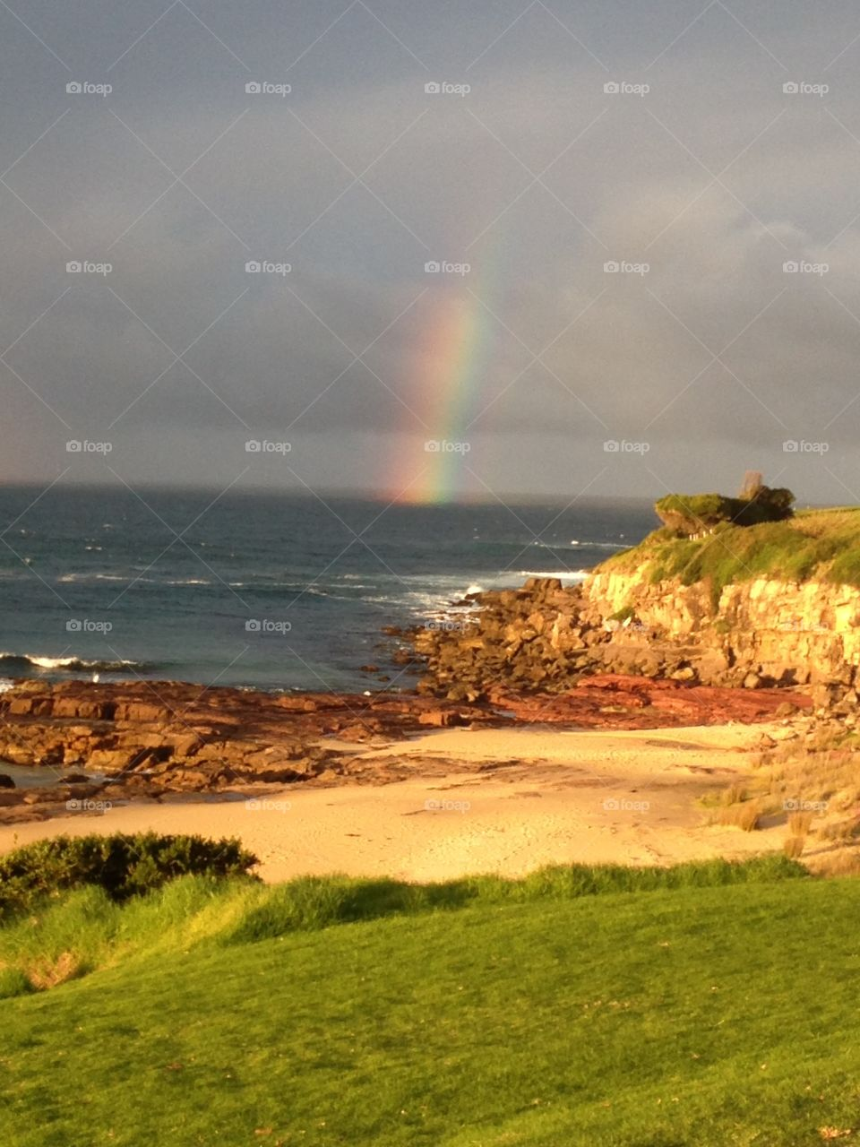 Rainbow meets water