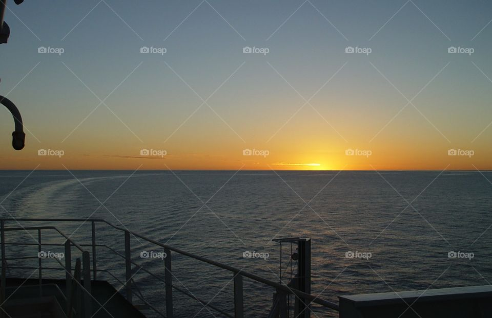 Sunset out at sea