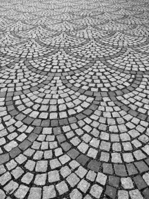 Patterns made of stone