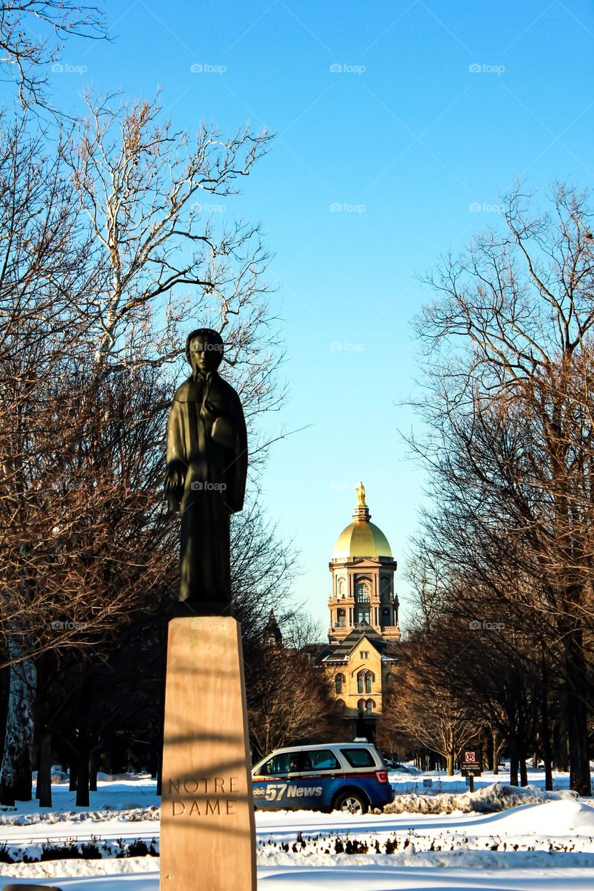 News of Father Hesburgh's Passing Travels Local to Global