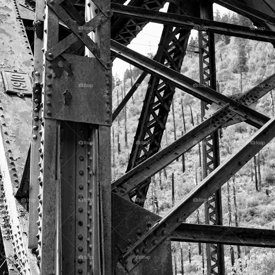 A steel bridge in Western Oregon built in 1910 still stands strong at over 100 years old.