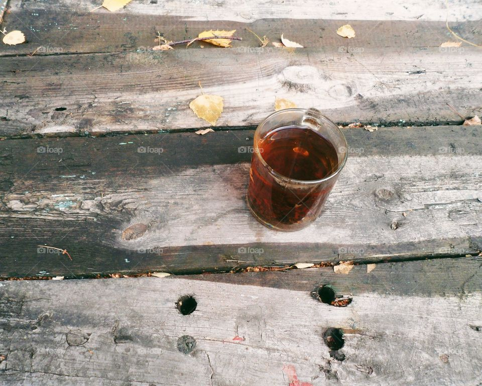 A cup of black tea
