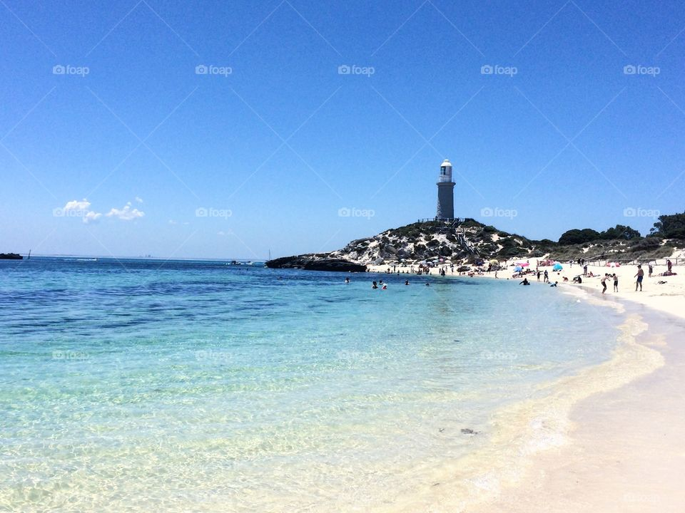 A lighthouse on rottnest island, Perth, Australia