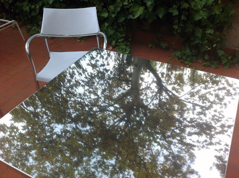 Under the tree. Reflection