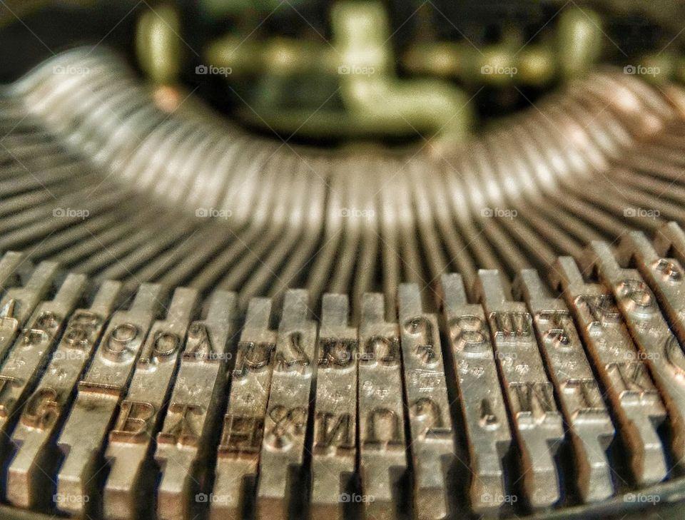 Vintage Typewriter Type Bars