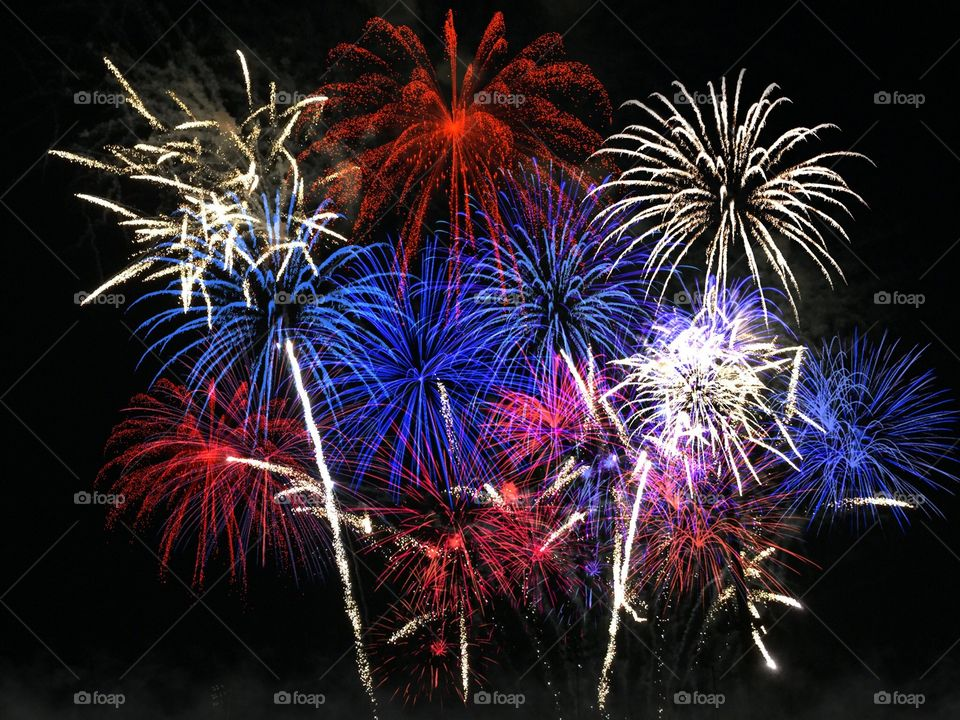 Red ,White and Blue Fireworks