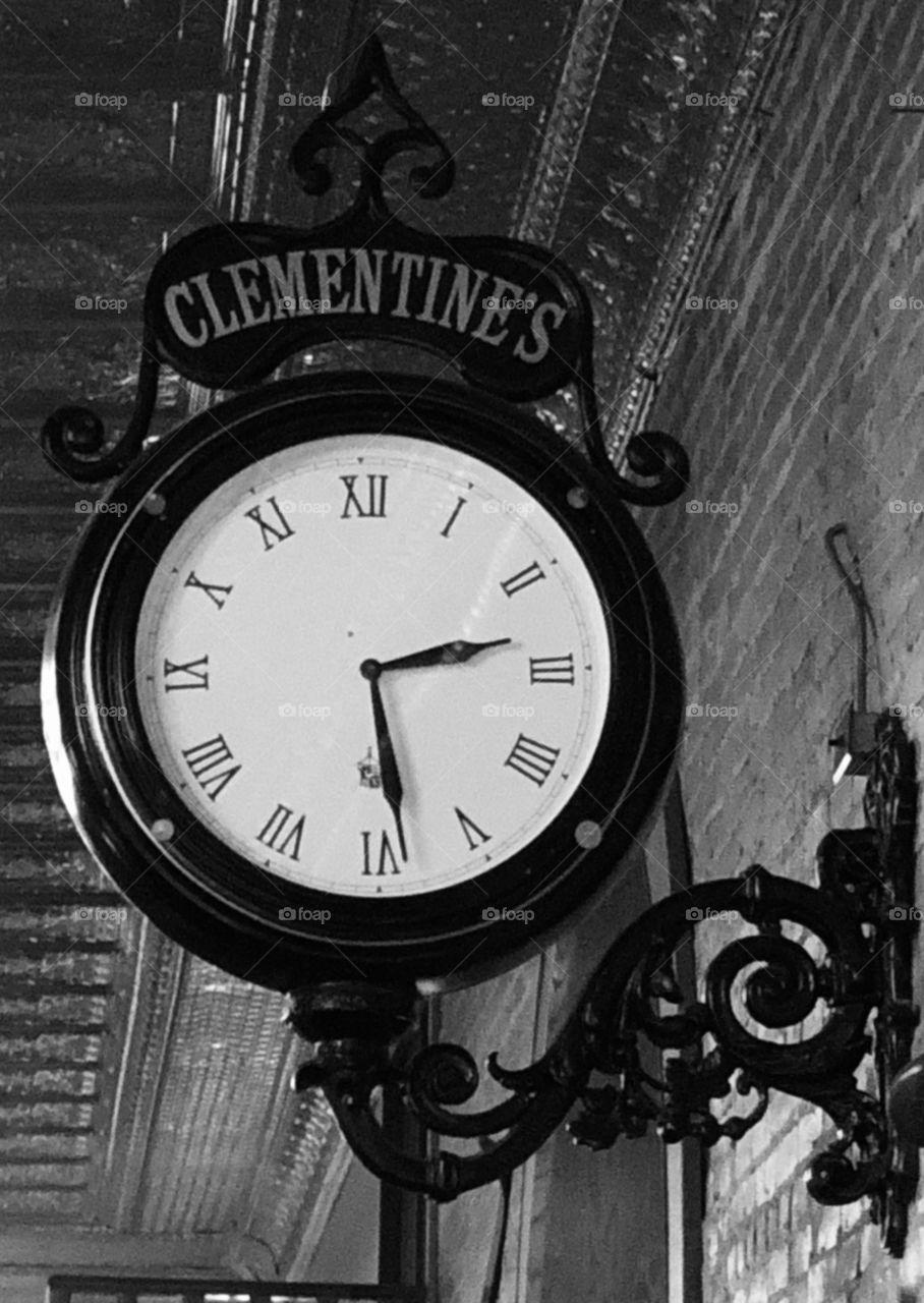 Clementine's Restaurant Clock in South Haven, Michigan