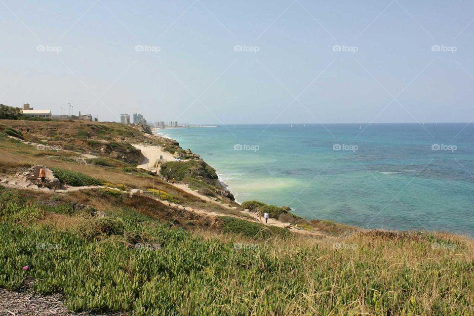 Apollonia National Park in Israel. View of Herzliya