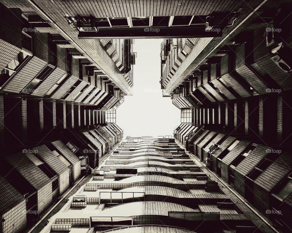 Apartment complex . Apartment complex