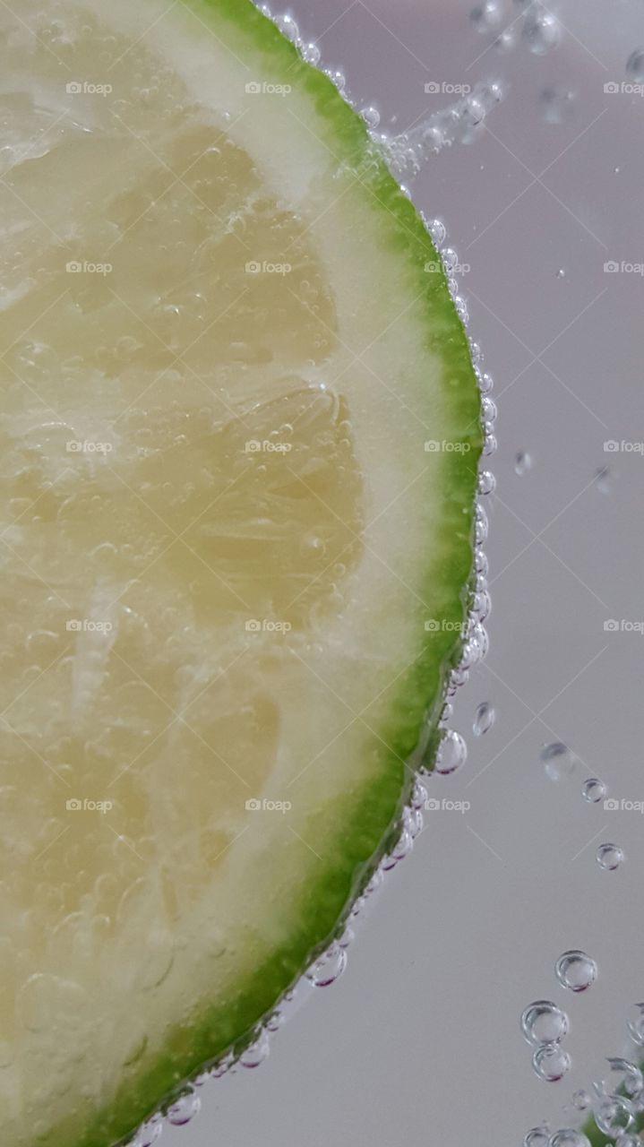 Close-up of soda bubbles