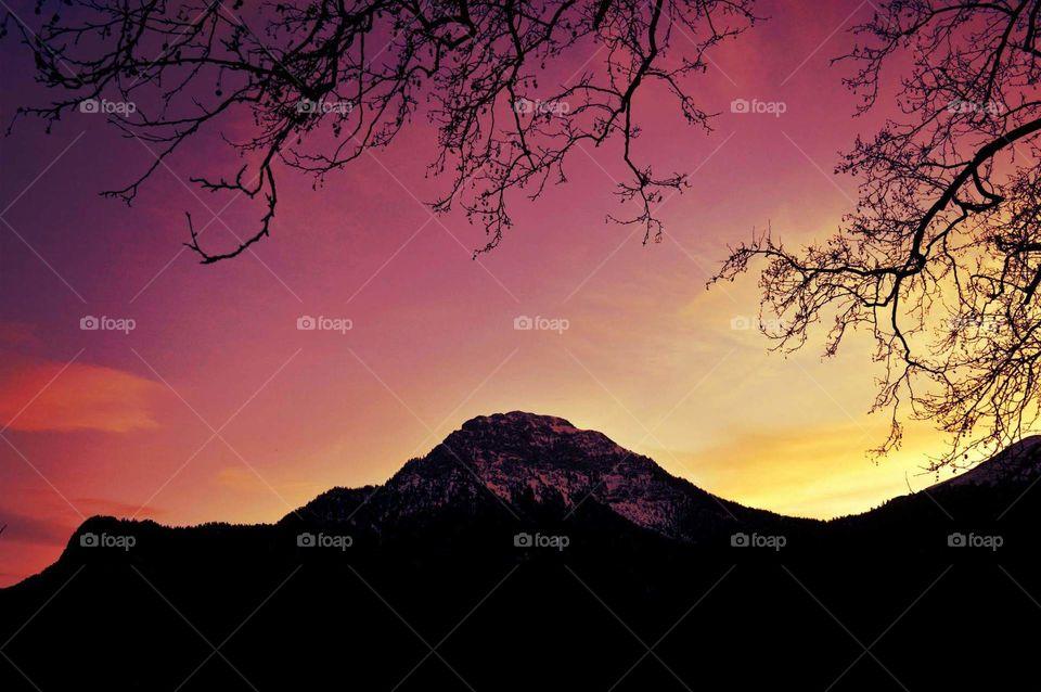 Greece photography purple sky