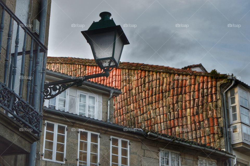 Old city of Santiago de Compostela.
