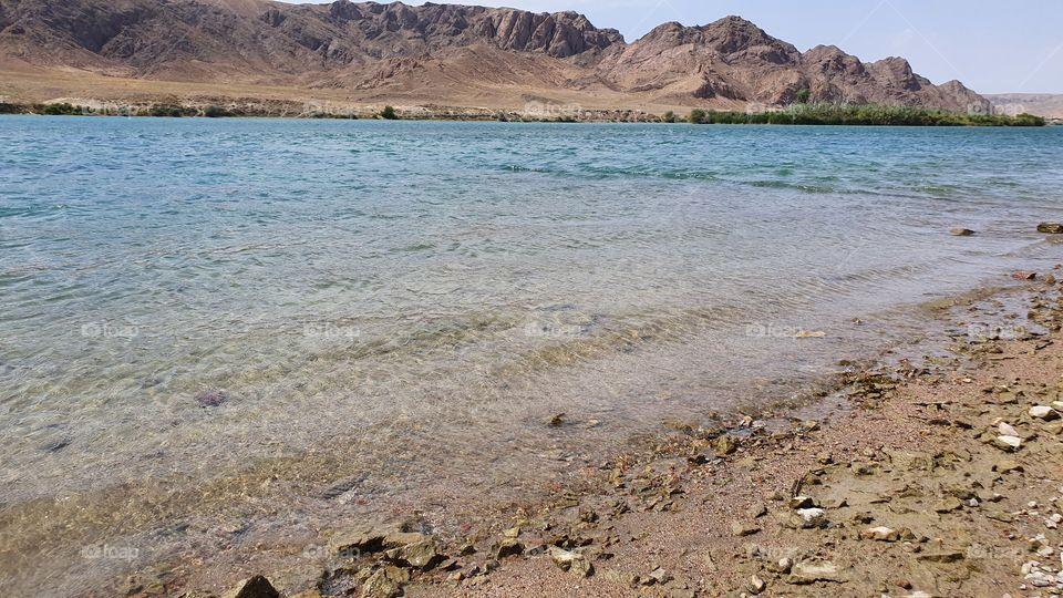Ili river in Kazakhstan