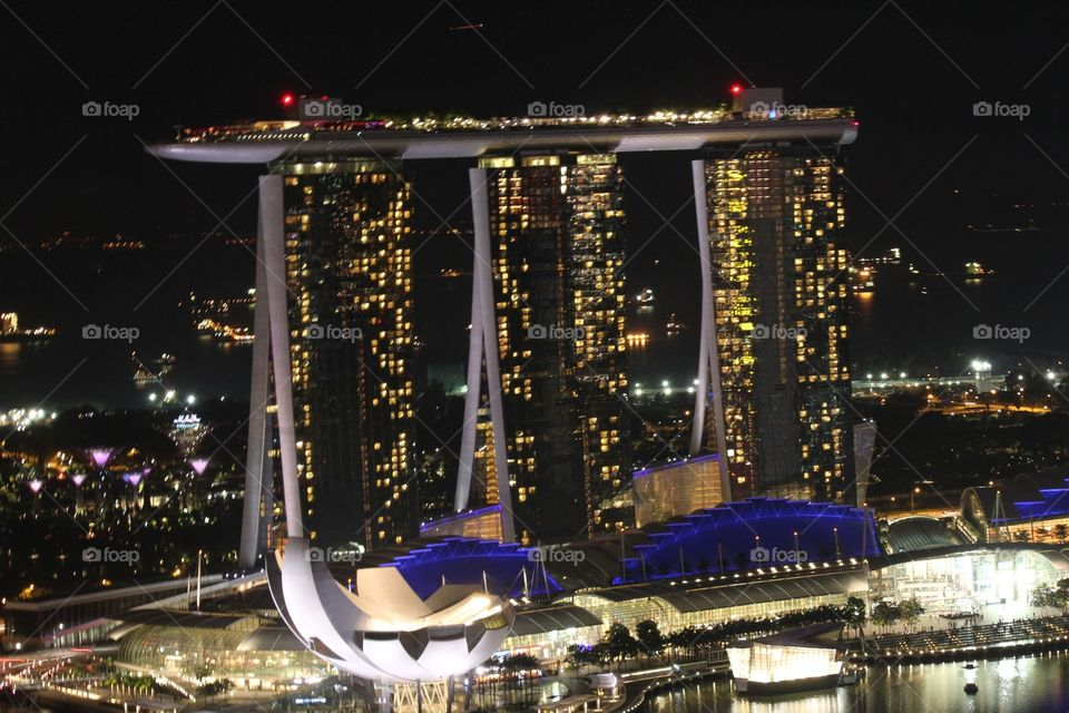 Marina Bay Sands Hotel. Singapore