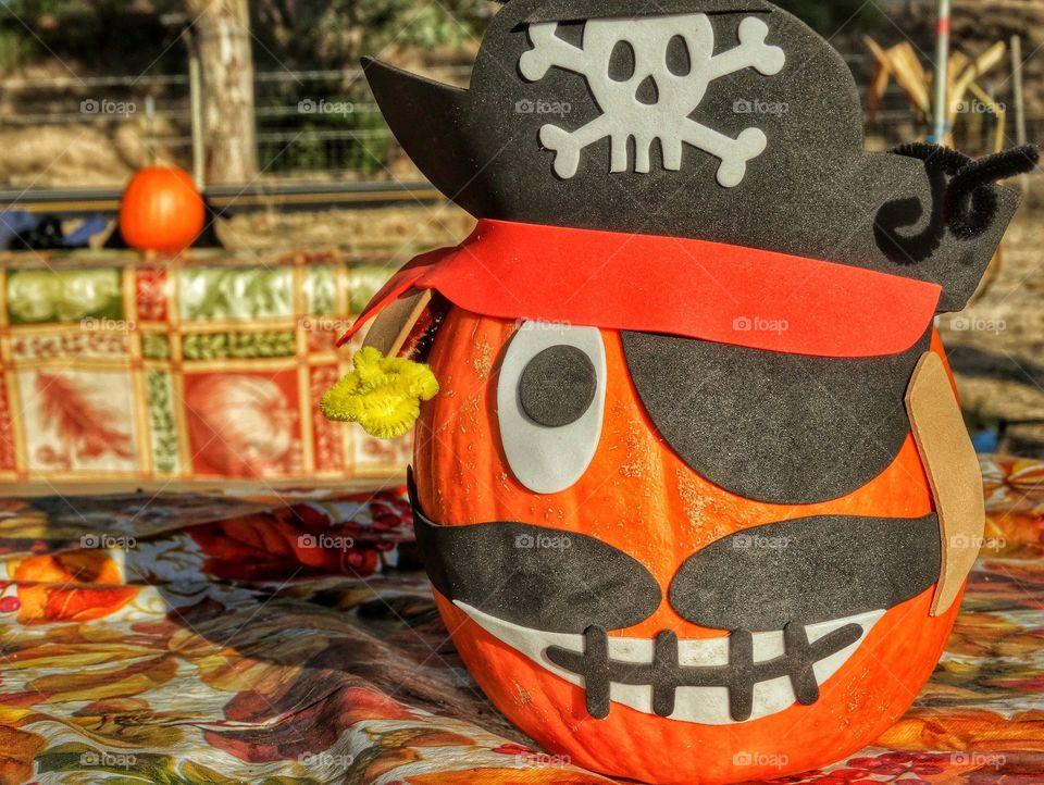 Arts And Crafts Halloween Piratical Pumpkin