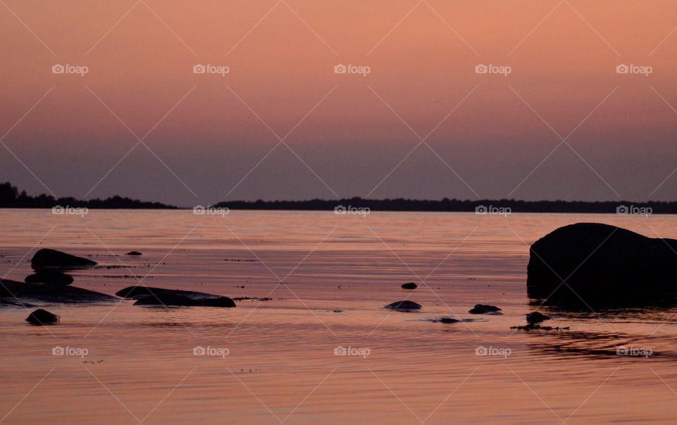 Idyllic sea at Sweden