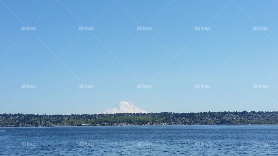 Mount Rainier. taken from a boat on puget sound April 2016