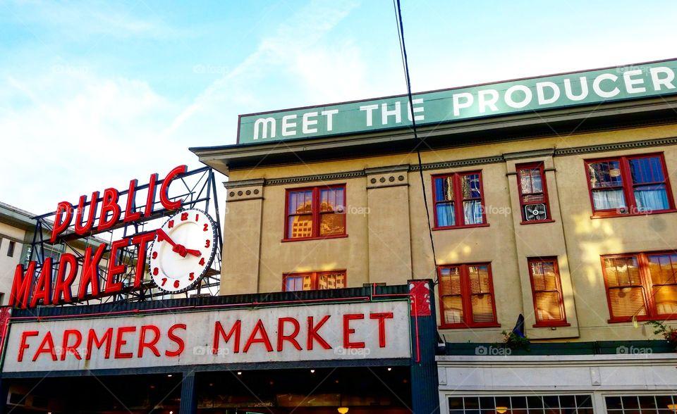Pike Place Market Seattle. February 2016