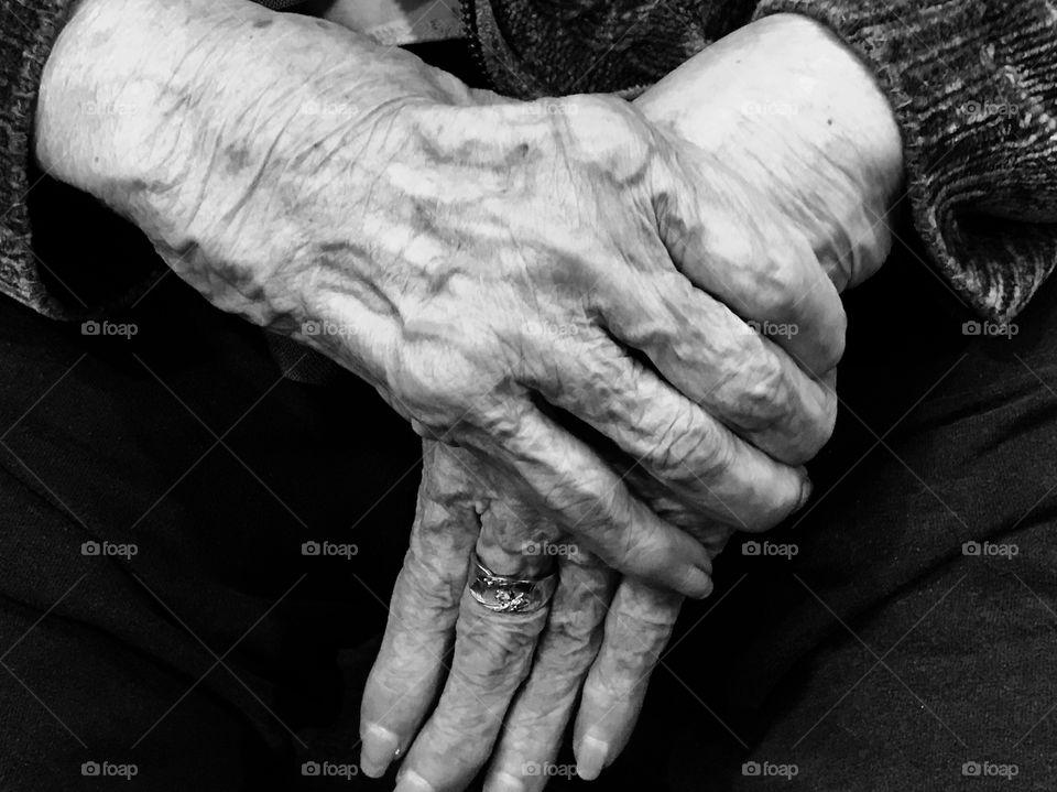 Grandmother's hands