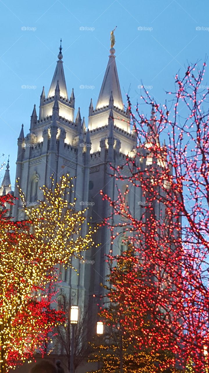 Salt Lake Temple at Christmas