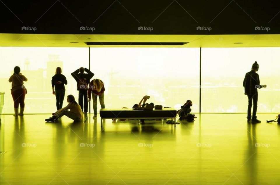 Silhouette, Reflection, People, Man, Airport