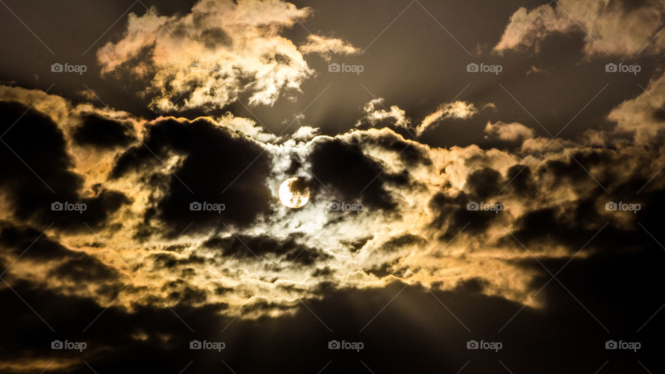 View of dramatic sky