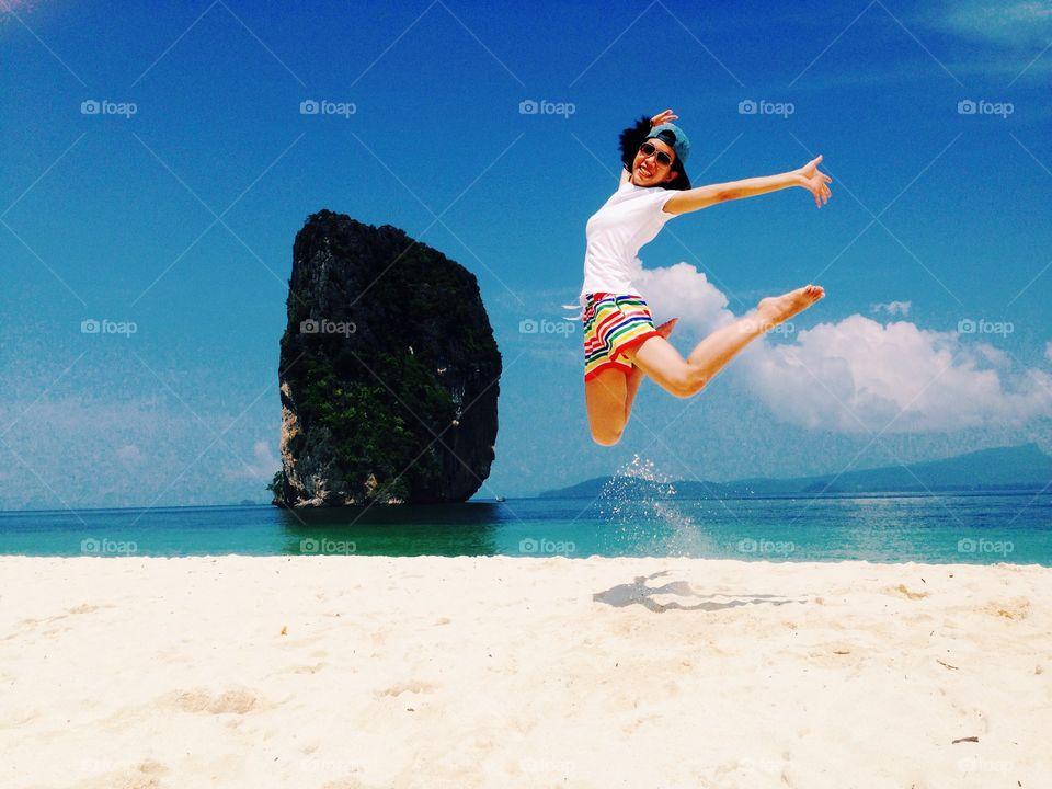 Jump. I'm a happy girl