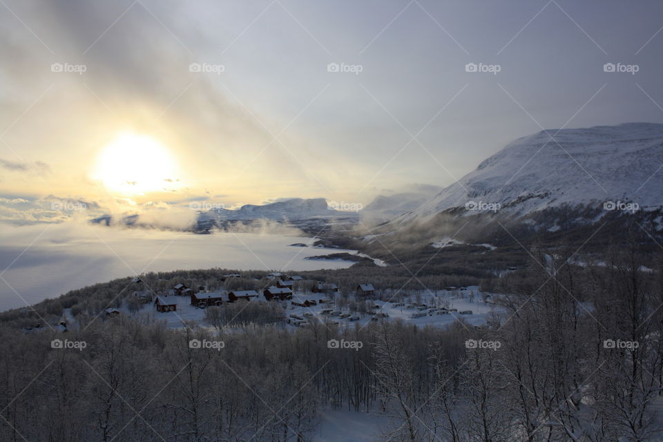 Scenic view of nature in winter