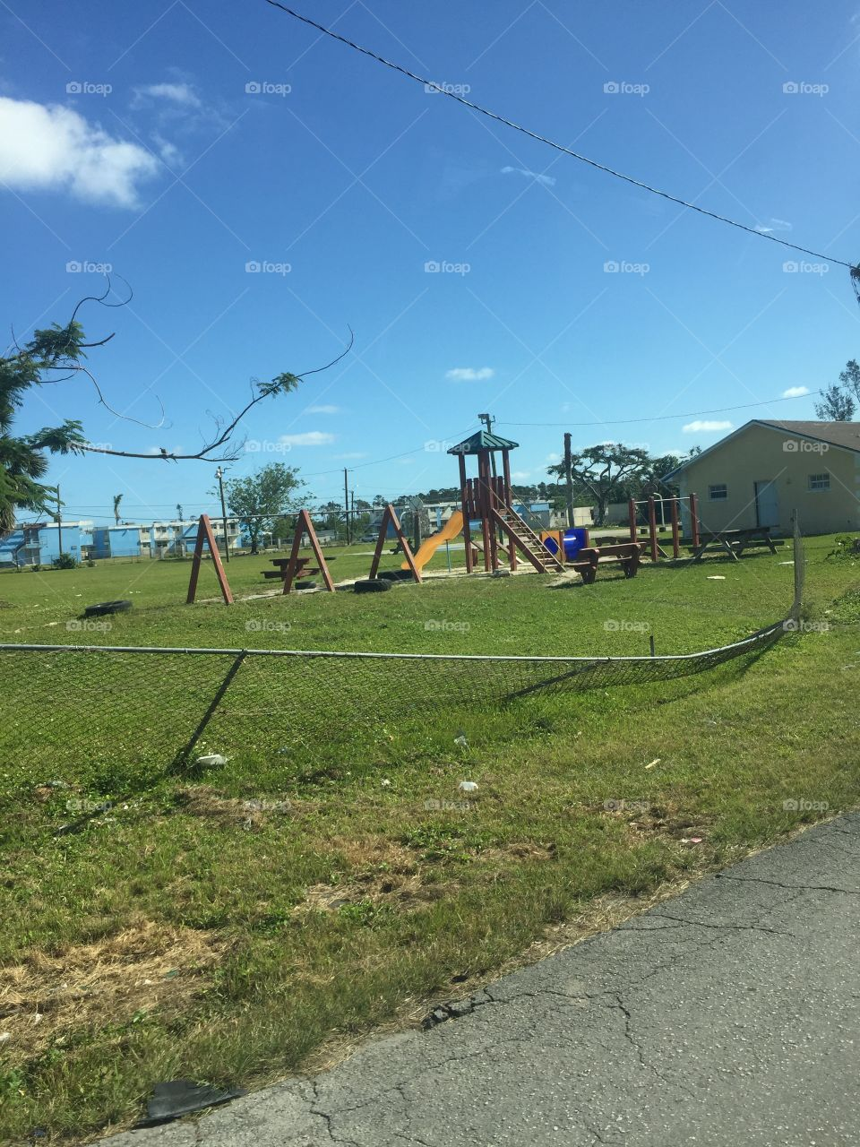 A native man in the Bahamas took my family on a tour of the island and I saw this playground. I was shocked about the condition and how it is still being used, really opened my eyes as to how often we take things for granted!
