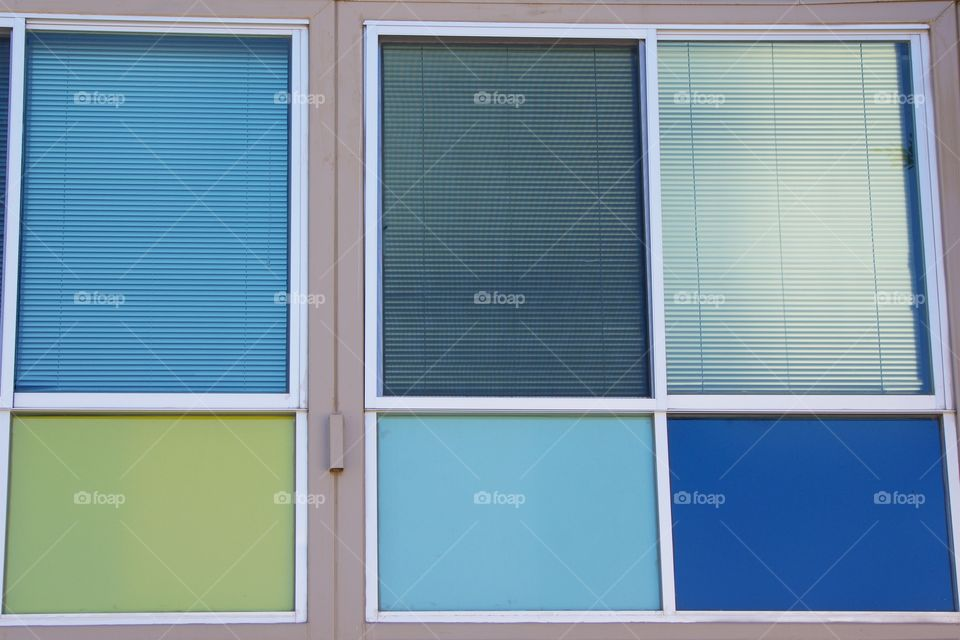 Exterior windows of a residential building in San Miguel de Allende, Mexico