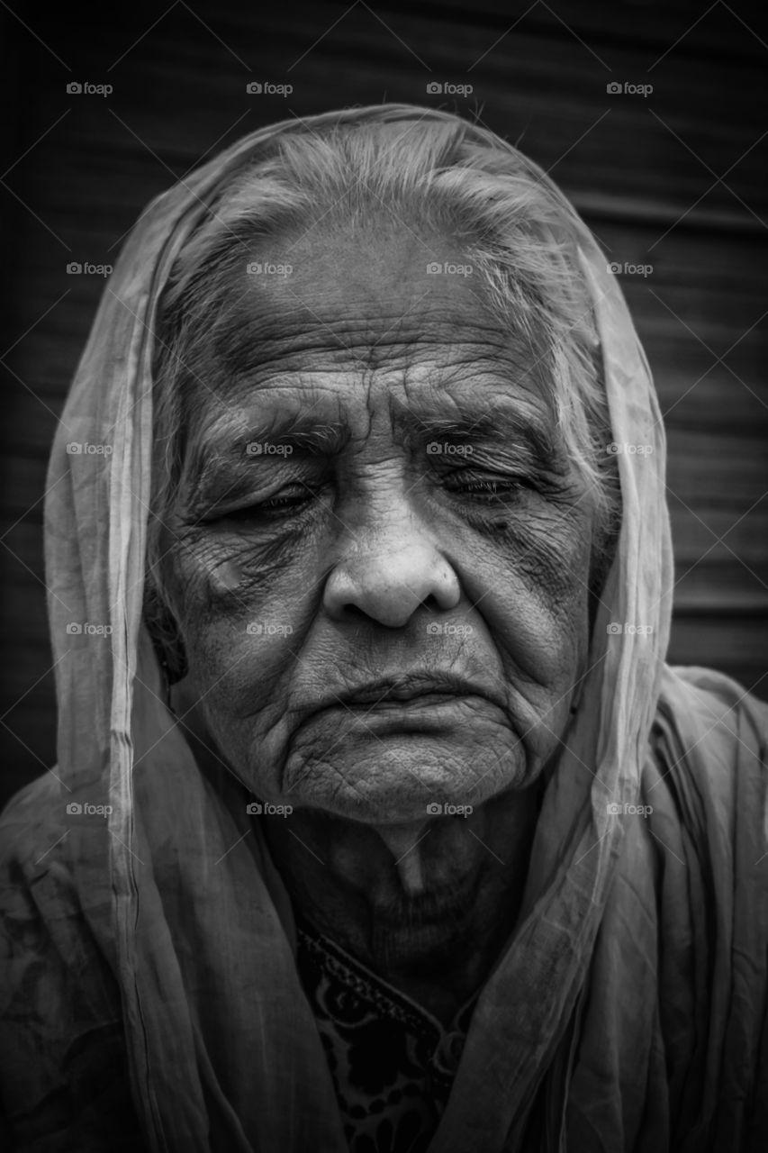 An old lady portrait