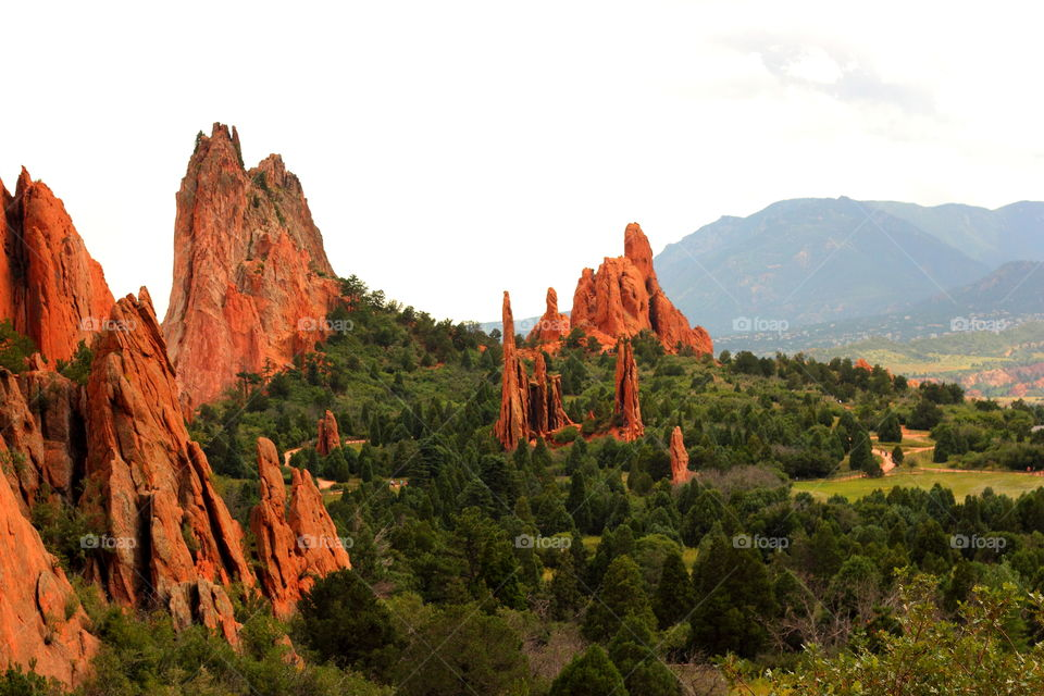 Rocks in the Garden Of The Gods