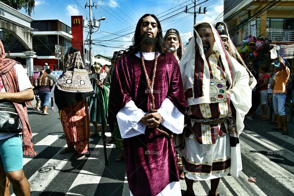 characters in the reenactment of the death of jesus christ