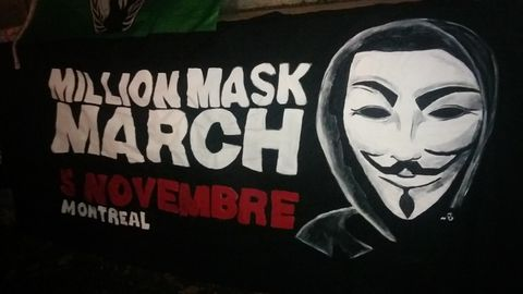 Million Mask March Montreal