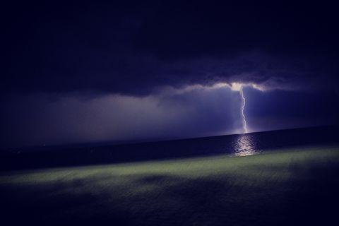 Thunderstrom in the sky