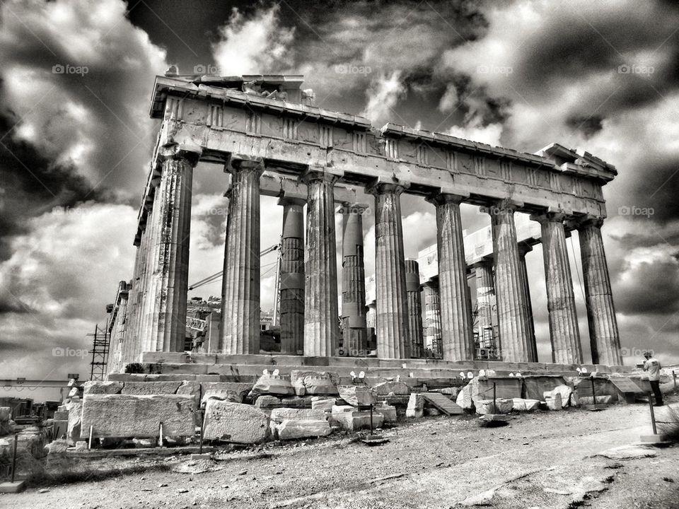 View of parthenon in Athens