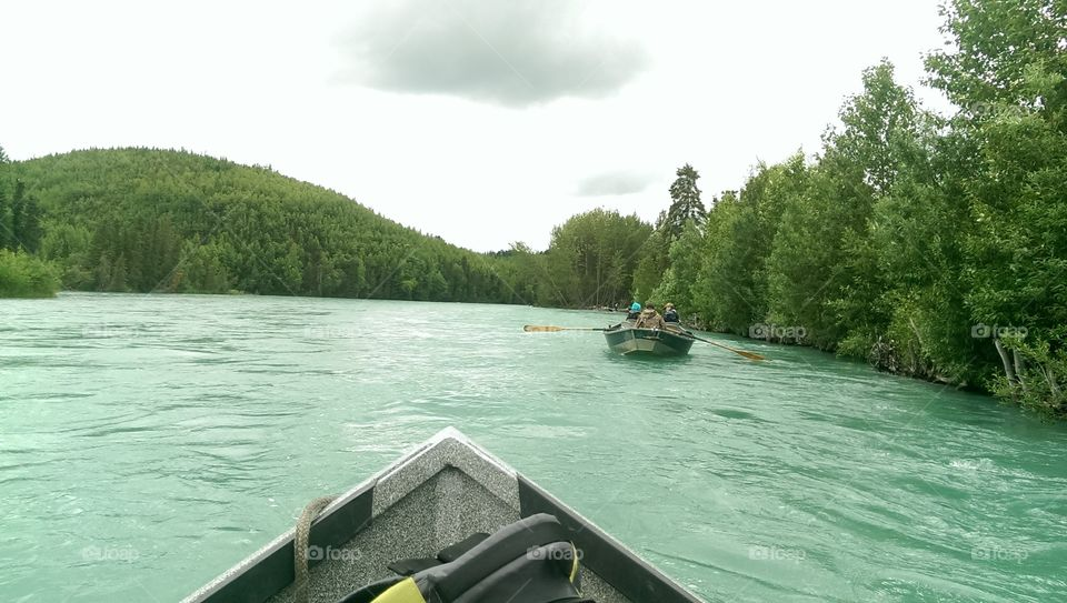 kenai River. Alaska drift boating
