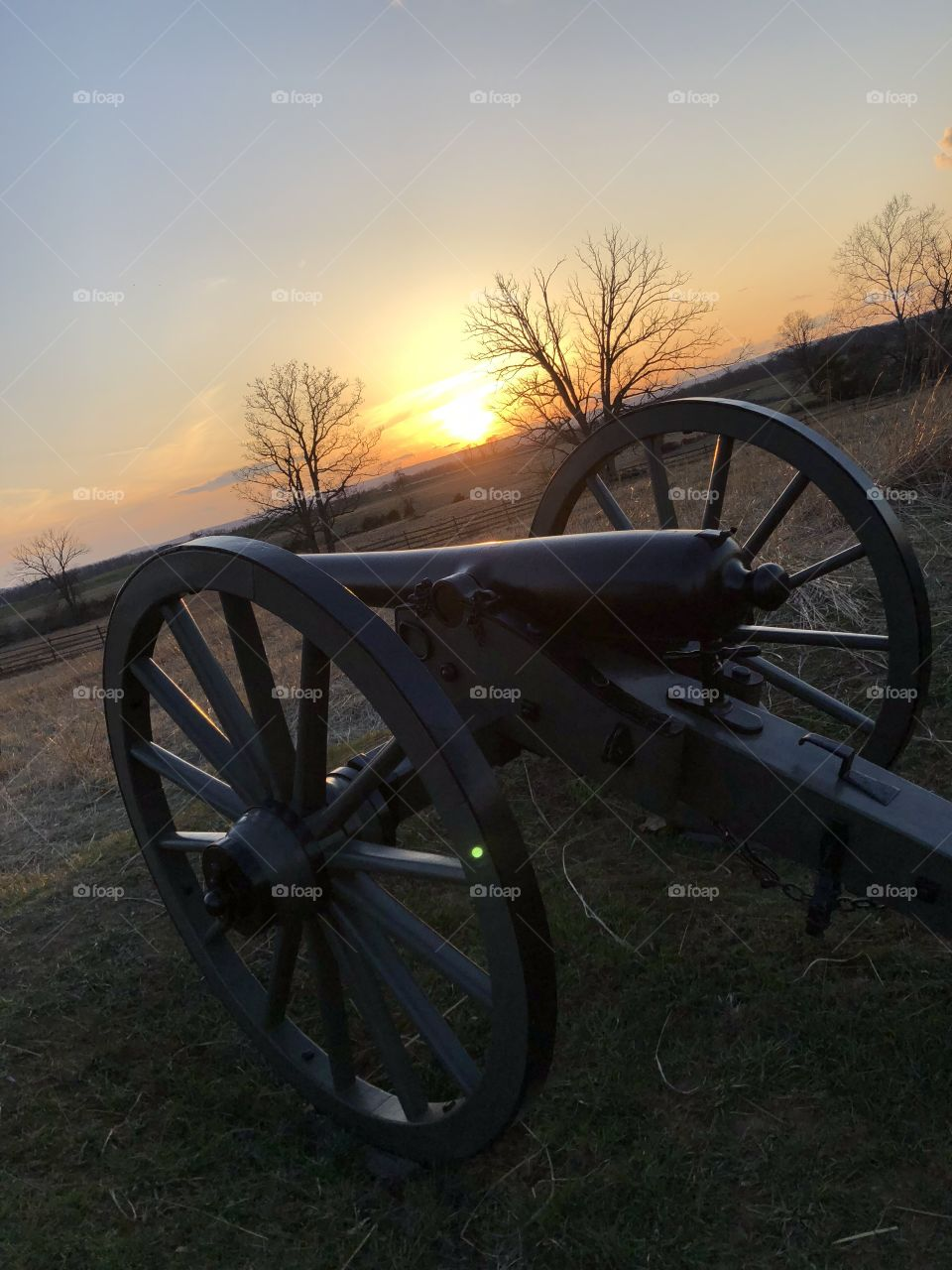Cannon at sunset