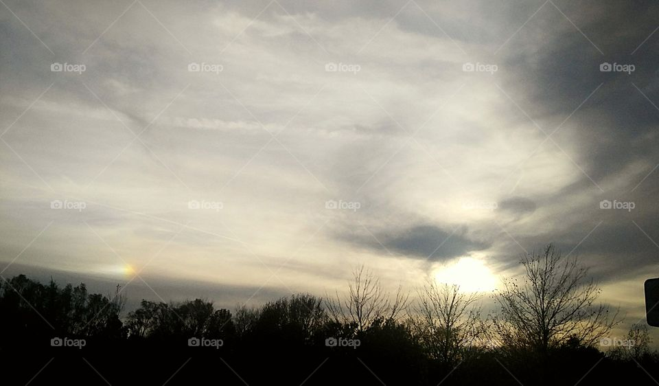 low light Gray sky away