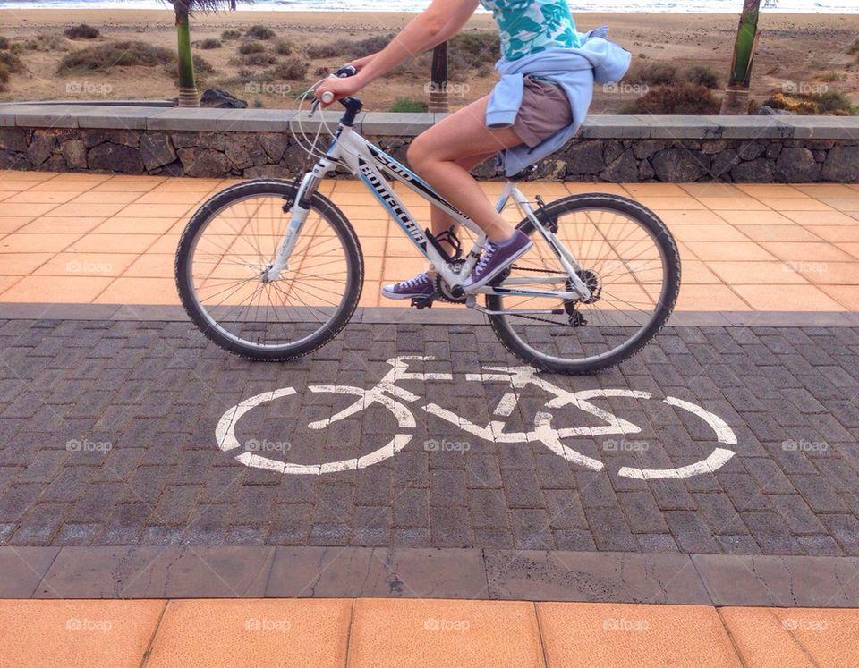 """Riding along on my push bike honey....."""