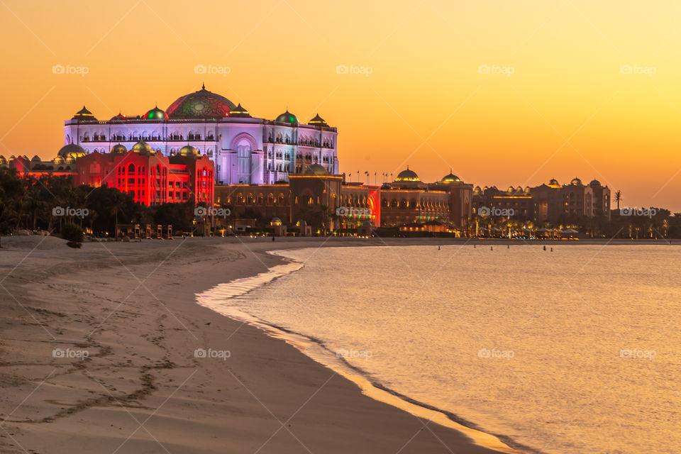 Enchanting sunset in Abu Dhabi