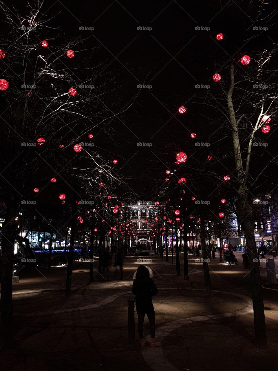 Christmas in gothenburg city sweden
